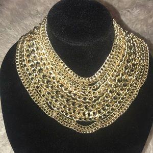 🔥High Fashion  goldtone bib  necklace🔥🔥🔥🔥
